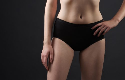 Women Black Hi-Waisted Briefs Front - Shreddies USA