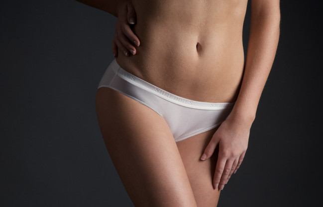 Womens Briefs - Front - White